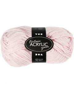 Fantasia lana acrílica, L. 80 m, rojo claro, 50 gr/ 1 bola