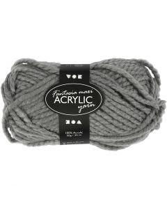Fantasia lana acrílica, L. 35 m, medidas maxi , gris, 50 gr/ 1 bola