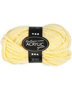 Fantasia lana acrílica, L. 35 m, medidas maxi , amarillo claro, 50 gr/ 1 bola