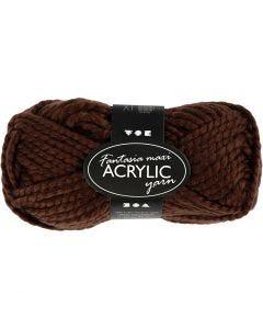 Fantasia lana acrílica, marrón, 50 gr/ 1 bola