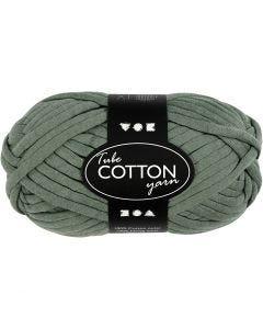 Lana tubular de algodón, L. 45 m, verde oscuro, 100 gr/ 1 bola