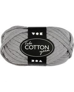 Lana tubular de algodón, L. 45 m, gris, 100 gr/ 1 bola