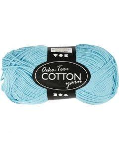 Hilo de algodón, medida 8/4, L. 170 m, turquesa, 50 gr/ 1 bola