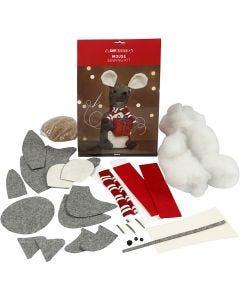 Ratón de Navidad, A: 30 cm, 1 ud/ 1 paquete