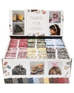 Tela para patchwork, medidas 45x55 cm, 100 gr, surtido de colores, 48 fajo/ 1 paquete