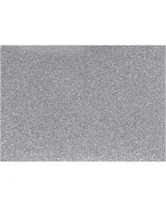 Foil para planchar, 148x210 mm, purpurina, plata, 1 hoja