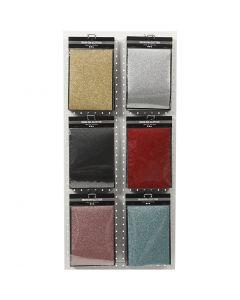 Foil para planchar, 148x210 mm, purpurina, surtido de colores, 6x10 hoja/ 1 paquete