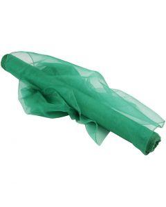 Tela de organza, A: 50 cm, verde, 10 m/ 1 rollo
