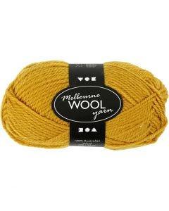 Melbourne lana, L. 92 m, amarillo oscuro, 50 gr/ 1 bola