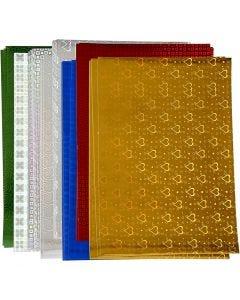 Papel holográfico, A4, 210x297 mm, 120 gr, 80 hojas stdas/ 1 paquete