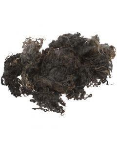 Fibras rizadas, gris oscuro, 100 gr/ 1 fajo