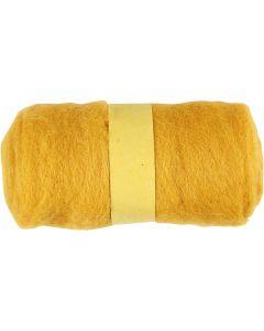 Lana cardada, amarillo, 100 gr/ 1 fajo