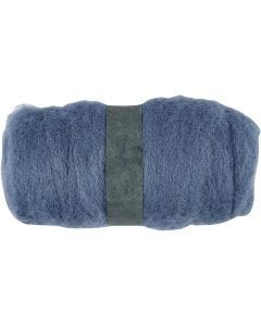 Lana cardada, azul cielo, 100 gr/ 1 fajo