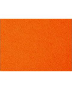Fieltro para manualidades, 42x60 cm, grosor 3 mm, naranja, 1 hoja