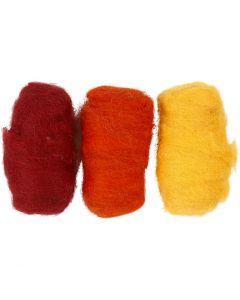 Lana cardada, amarillo pastel (32244), 3x10 gr/ 1 paquete