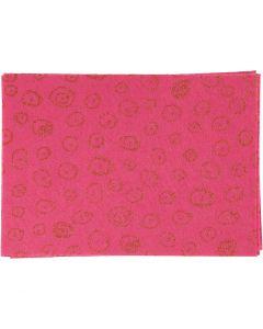 Fieltro para manualidades, A4, 210x297 mm, grosor 1 mm, rosa, 10 hoja/ 1 paquete
