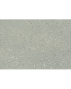 Fieltro para manualidades, A4, 210x297 mm, grosor 1 mm, gris, 10 hoja/ 1 paquete