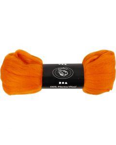 Lana, grosor 21 my, naranja, 100 gr/ 1 paquete