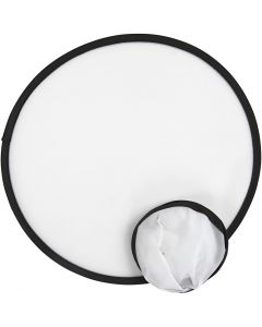 Frisbee, dia: 25 cm, blanco, 5 ud/ 1 paquete
