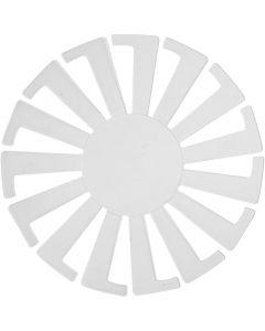 Plantilla para cesta tejida, A: 6 cm, dia: 8 cm, transparente, 10 ud/ 1 paquete