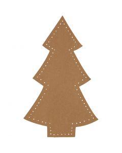 Árbol de Navidad, A: 18 cm, A: 11 cm, 350 gr, natural, 4 ud/ 1 paquete