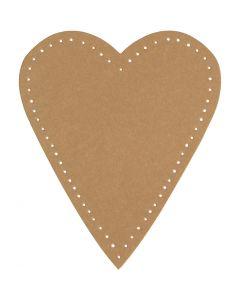 Corazón, A: 12 cm, A: 10 cm, 350 gr, natural, 4 ud/ 1 paquete