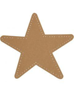 Estrella, dia: 17 cm, 350 gr, natural, 4 ud/ 1 paquete