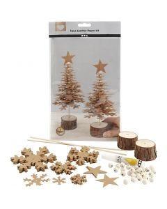Árboles de Navidad de cuero sintético, grosor 0,55 mm, 1 set