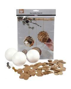 Conos de papel imitación cuero, dia: 8 cm, grosor 0,55 mm, natural, dorado, 1 set