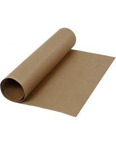 Papel imitación cuero, A: 50 cm, una cara de color, 350 gr, marrón oscuro, 1 m/ 1 rollo