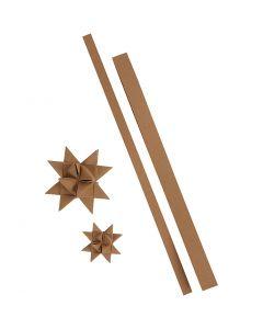 Tiras de estrellas, L. 44+78 cm, A: 15+25 mm, 350 gr, natural, 24 tiras/ 1 paquete