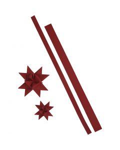 Tiras de estrellas, L. 44+78 cm, A: 15+25 mm, 350 gr, rojo, 24 tiras/ 1 paquete