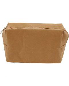 Bolso, medidas 16,5x6,5x10 cm, marrón claro, 1 ud