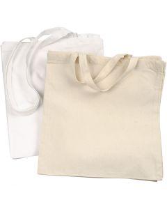 Bolsa de la compra, 135 gr, blanco, color natural claro, 2x10 ud/ 1 paquete