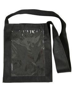 Bolsa con frontal de plástico, medidas 40x34x8 cm, negro, 1 ud