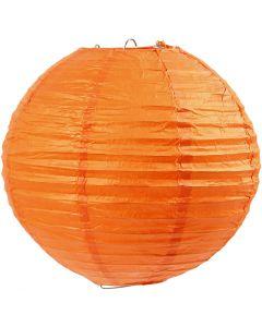 Lámpara de papel de arroz, dia: 20 cm, naranja, 1 ud