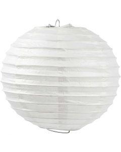 Lámpara de papel de arroz, Redondo, dia: 20 cm, blanco, 1 ud