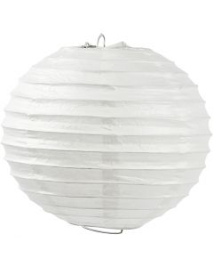 Lámpara de papel de arroz, Redondo, dia: 35 cm, blanco, 1 ud