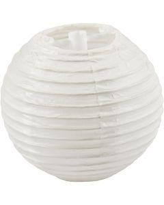 Lámpara de papel, dia: 7,5 cm, blanco, 10 ud/ 1 paquete