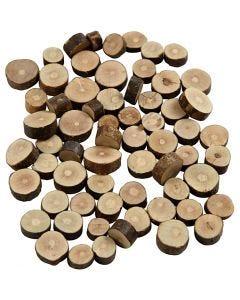 Surtido de madera, dia: 10-15 mm, grosor 5 mm, 230 gr/ 1 paquete