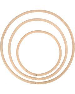 Aro de bambú, dia: 15,3+20,3+25,5 cm, 3 ud/ 1 set