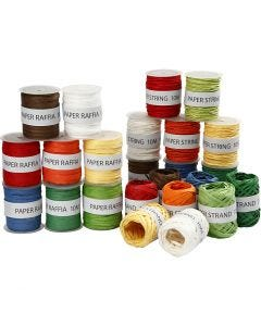 Papel de cuerda, surtido de colores, 48x10 m/ 1 paquete