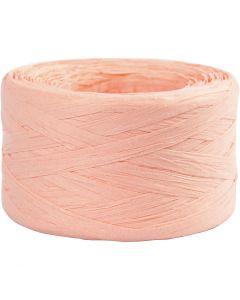 Hilo de rafia de papel, A: 7-8 mm, rosa claro, 100 m/ 1 rollo