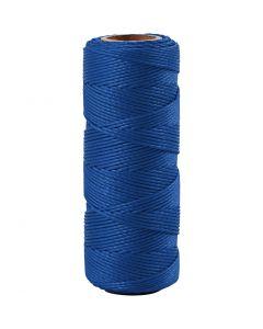 Cuerda de yute, grosor 1 mm, azul, 65 m/ 1 rollo