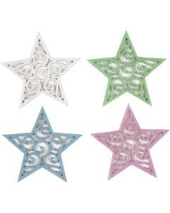 Estrellas de fieltro, dia: 46 mm, grosor 1 mm, 20 ud/ 1 paquete