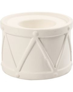 Portavela, A: 6,6 cm, dia: 9,3 cm, medida agujero 2,2+4 cm, blanco, 2 ud/ 1 paquete
