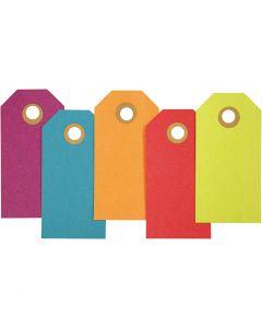 Etiqueta, medidas 4x8 cm, 250 gr, surtido de colores, 20 ud/ 1 paquete