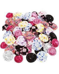 Mini sombreros, dia: 4 cm, surtido de colores, 100 ud/ 1 paquete