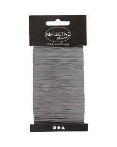 hilo reflectivo, A: 0,8-1 mm, gris, 100 m/ 1 paquete