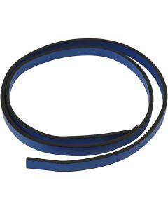 Cinturón de cuero, A: 10 mm, grosor 3 mm, azul, 1 m/ 1 paquete